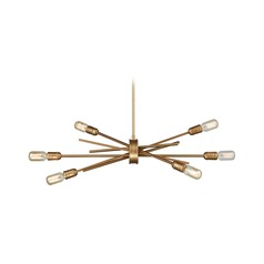 Mid-Century Modern Chandelier Gold Xenia by Elk Lighting