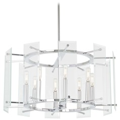 Minka Lavery Beacon Trace Chrome Pendant Light with Drum Shade