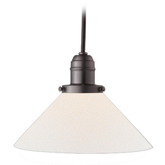 Hudson Valley Lighting Mini-Pendant Light with White Glass 3101-OB-M9