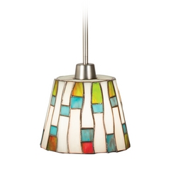 Kichler Mini-Pendant Light with Multi-Color Glass