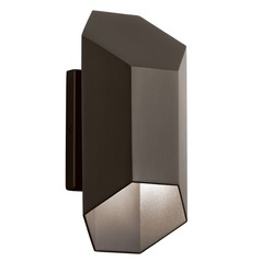 Kichler Lighting Estella Textured Architectural Bronze LED Outdoor Wall Light