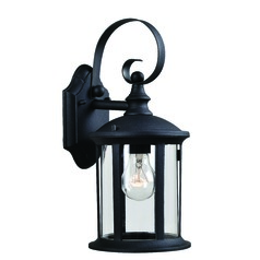 Leo Black Outdoor Wall Light by Kenroy Home