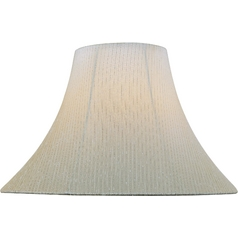 Light Beige Bell Lamp Shade with Spider Assembly