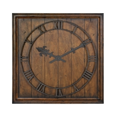 Uttermost Lighting Clock in Honey Pecan Finish 06851