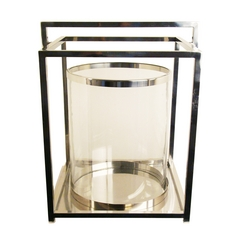 Light and Living Hurricane Candle Holder with Center Clear Glass - 15-1/2-Inches Tall 6109519