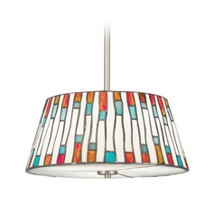 Kichler Drum Pendant Light in Brushed Nickel Finish