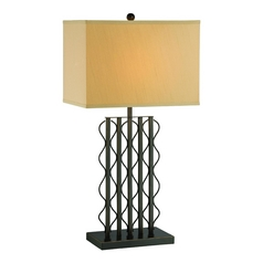 Lite Source Lighting Rexford Black Table Lamp with Rectangle Shade