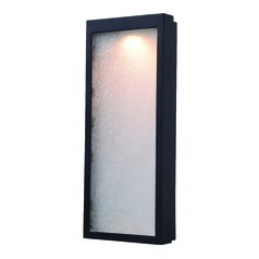Seeded Glass LED Outdoor Wall Light Black Kenroy Home Lighting