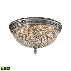Elk Lighting Renaissance Weathered Zinc LED Flushmount Light