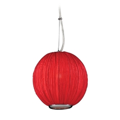 Modern Mini-Pendant Light with Red Shade