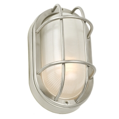 Design Classics 8-1/2-Inch Energy Star Qualified Oval Bulkhead Light 49856ES-1-SS