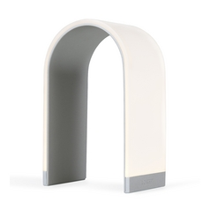 Modern LED Arch Touch Table Lamp in Silver Finish