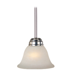 Maxim Lighting Basix Ee Satin Nickel Mini-Pendant Light with Bell Shade