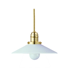 Hudson Valley Lighting Mini-Pendant Light with White Glass 3101-PB-008