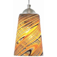 Oggetti Lighting Carnivale Satin Nickel Mini-Pendant Light with Cylindrical Shade