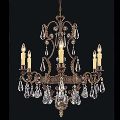 Savoy House Moroccan Bronze Crystal Chandelier