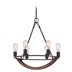 Industrial Edison Bulb Chandelier Bronze 22.5-Inch by Quoizel Lighting
