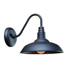 Barn Light Outdoor Wall Black Finish by Kenroy Home Lighting