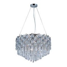 Maxim Lighting Jewel Chrome Pendant Light with Drum Shade