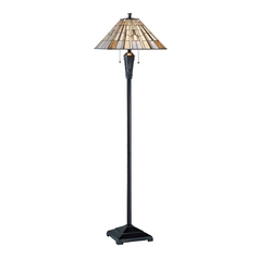 Lite Source Lighting Sachet Dark Bronze Floor Lamp with Square Shade