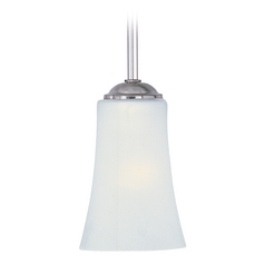 Maxim Lighting Logan Satin Nickel Mini-Pendant Light with Bell Shade