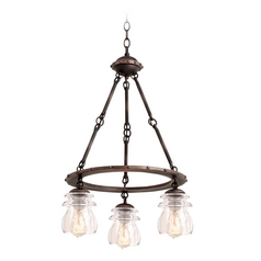 Kalco Lighting Brierfield Antique Copper Mini-Chandelier