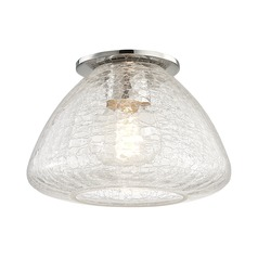 Mitzi Maya Polished Nickel Flushmount Light