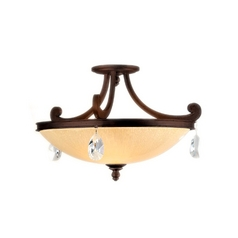 Corbett Lighting Roma Classic Bronze Semi-Flushmount Light