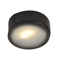 123 Volt LED Puck Light Surface Mount 3000K Bronze