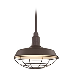 Bronze Pendant Barn Light with 14