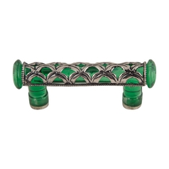 Modern Cabinet Pull in Green Finish