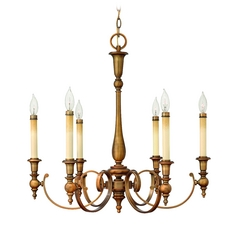 Chandelier in Brushed Bronze Finish