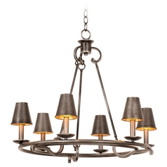 Kalco Lighting Fairford Vintage Iron Chandelier