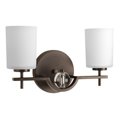Contemporary / Modern Bathroom Light Bronze Compass by Progress Lighting
