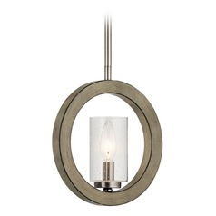 Kichler Lighting Grand Bank Distressed Antique Gray Mini-Pendant Light with Cylindrical Shade