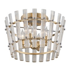 Corbett Lighting Sauterne Gold Leaf / Stainless Semi-Flushmount Light
