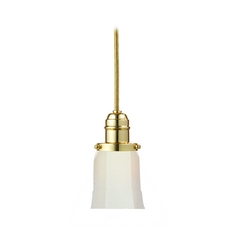 Hudson Valley Lighting Mini-Pendant Light with White Glass 3101-PB-119