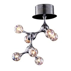 Mid-Century Modern Semi-Flushmount Light Chrome Molecular by Elk Lighting