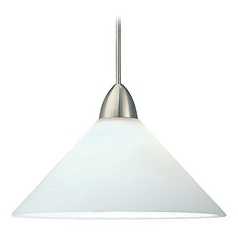 WAC Lighting Contemporary Collection Brushed Nickel LED Track Pendant