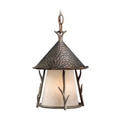 Woodland Autumn Patina Outdoor Hanging Light by Vaxcel Lighting
