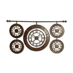Uttermost Lighting Clock in Dark Brown Finish 06909