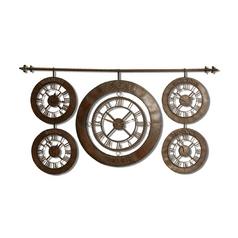 Uttermost Lighting Clock in Dark Brown Finish 06909