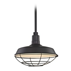 Black Pendant Barn Light with 14