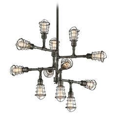 Troy Lighting Conduit Old Silver Pendant Light