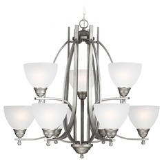 Sea Gull Lighting Vitelli Weathered Pewter Chandelier
