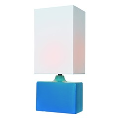 Lite Source Lighting Kara Aqua Table Lamp with Rectangle Shade