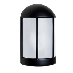 Frosted Glass Outdoor Wall Light Black Costaluz by Besa Lighting