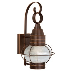 Seeded Glass LED Outdoor Wall Light Bronze Vaxcel Lighting