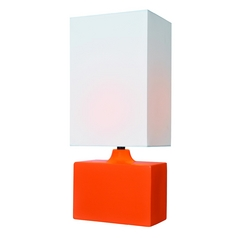 Lite Source Lighting Kara Orange Table Lamp with Rectangle Shade
