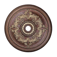 Livex Lighting Palacial Bronze with Gilded Accents Ceiling Medallion